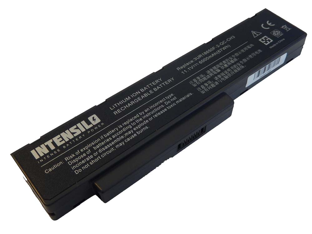 Battery intensilo 6000mah black for packard bell easynote - Batterie packard bell easynote lj65 ...