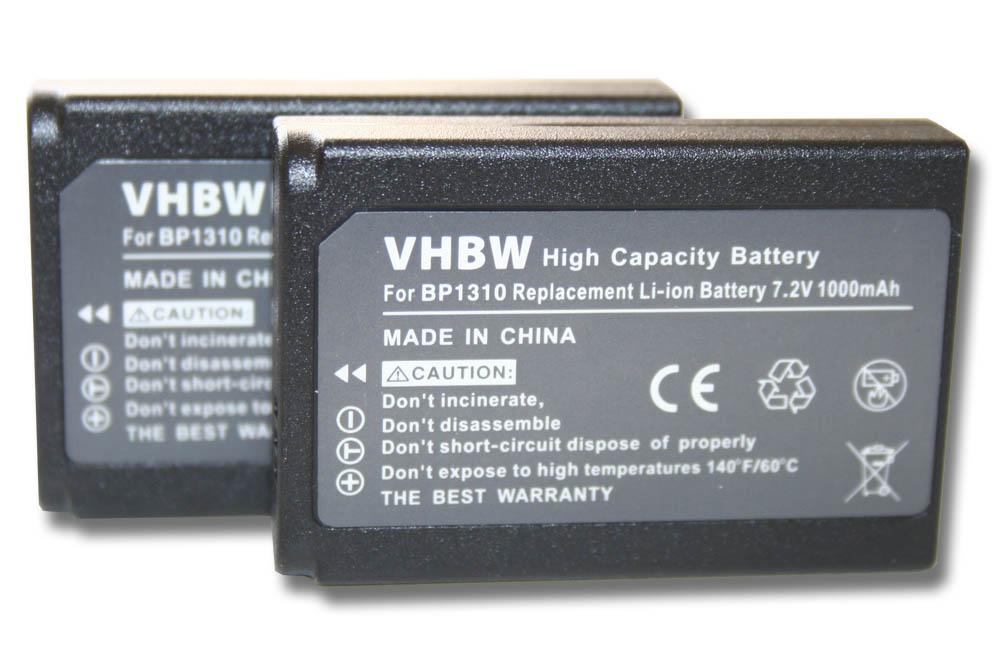 2 x Bilora GPI batería Li-ion 721 para Samsung bp-1030 nuevo embalaje original