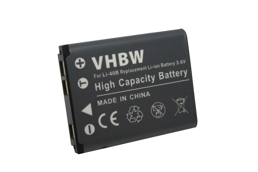 2x Batería 500mAh para Casio Exilim EX-Z270//EX-Z280//EX-Z330