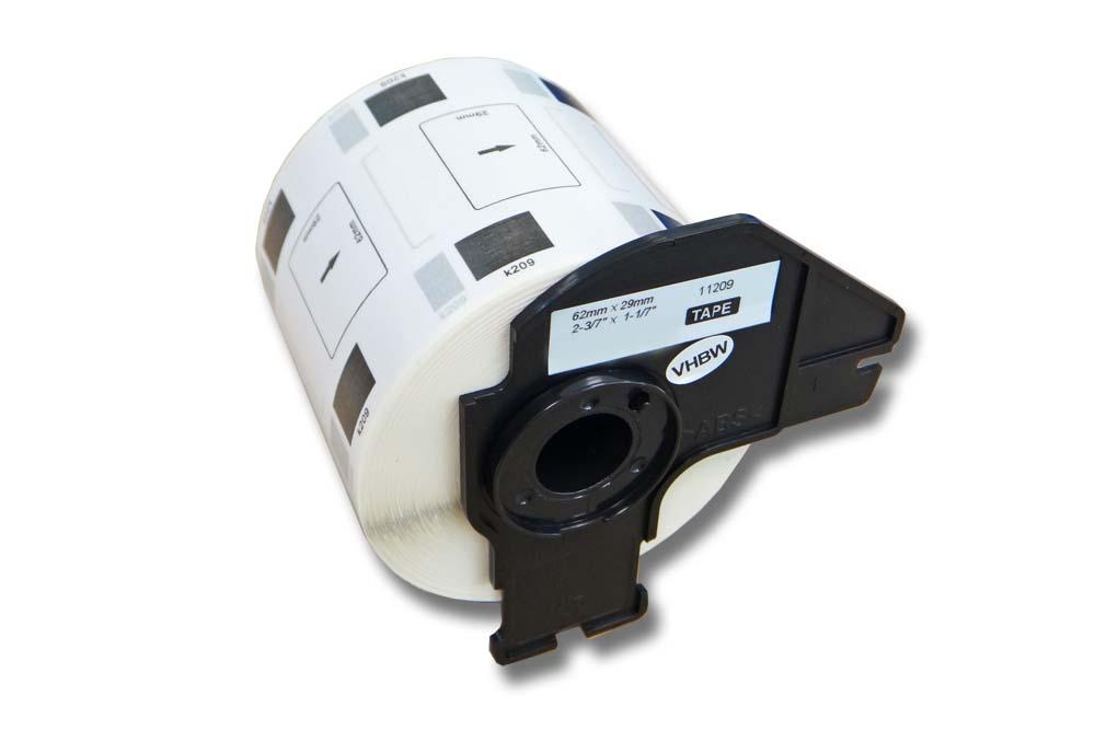 QL-570 800 vhbw ETIKETTEN 62x29mm WASSERFEST für BROTHER P-touch QL-560VP