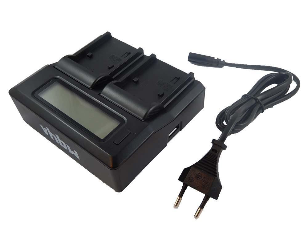 VHBW dual cargador con display para Canon bp-522//bp-535