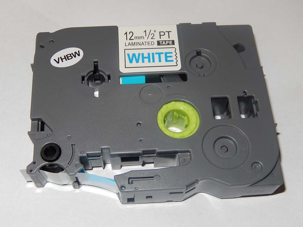 original vhbw® Schriftband Tape 12mm W-S für BROTHER P-Touch H75 H75S