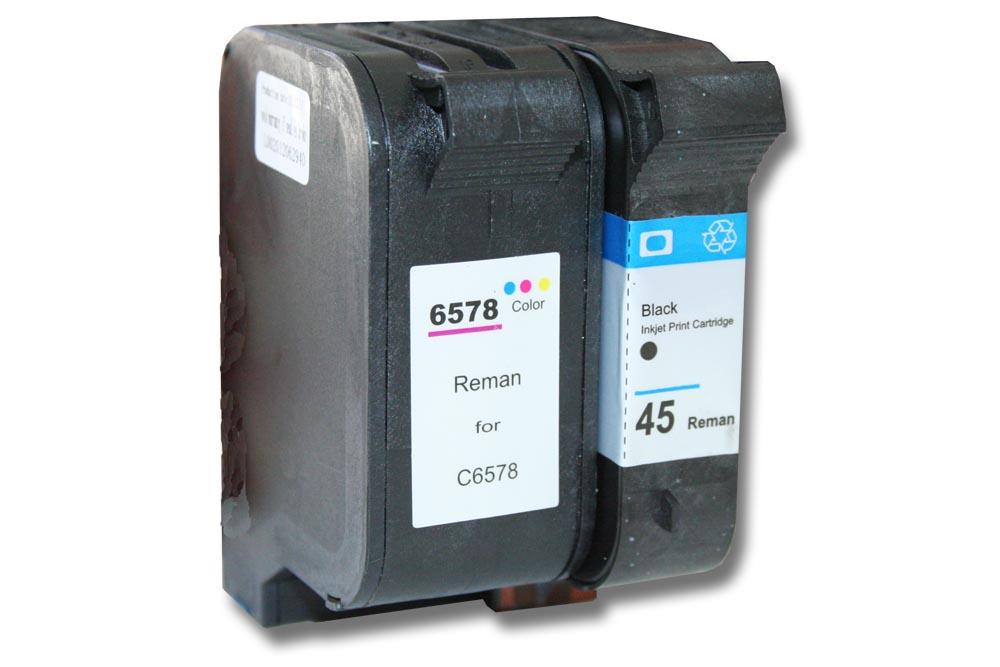 2x xxl cartouche encre d 39 imprimante pour hp 45 78 deskjet. Black Bedroom Furniture Sets. Home Design Ideas