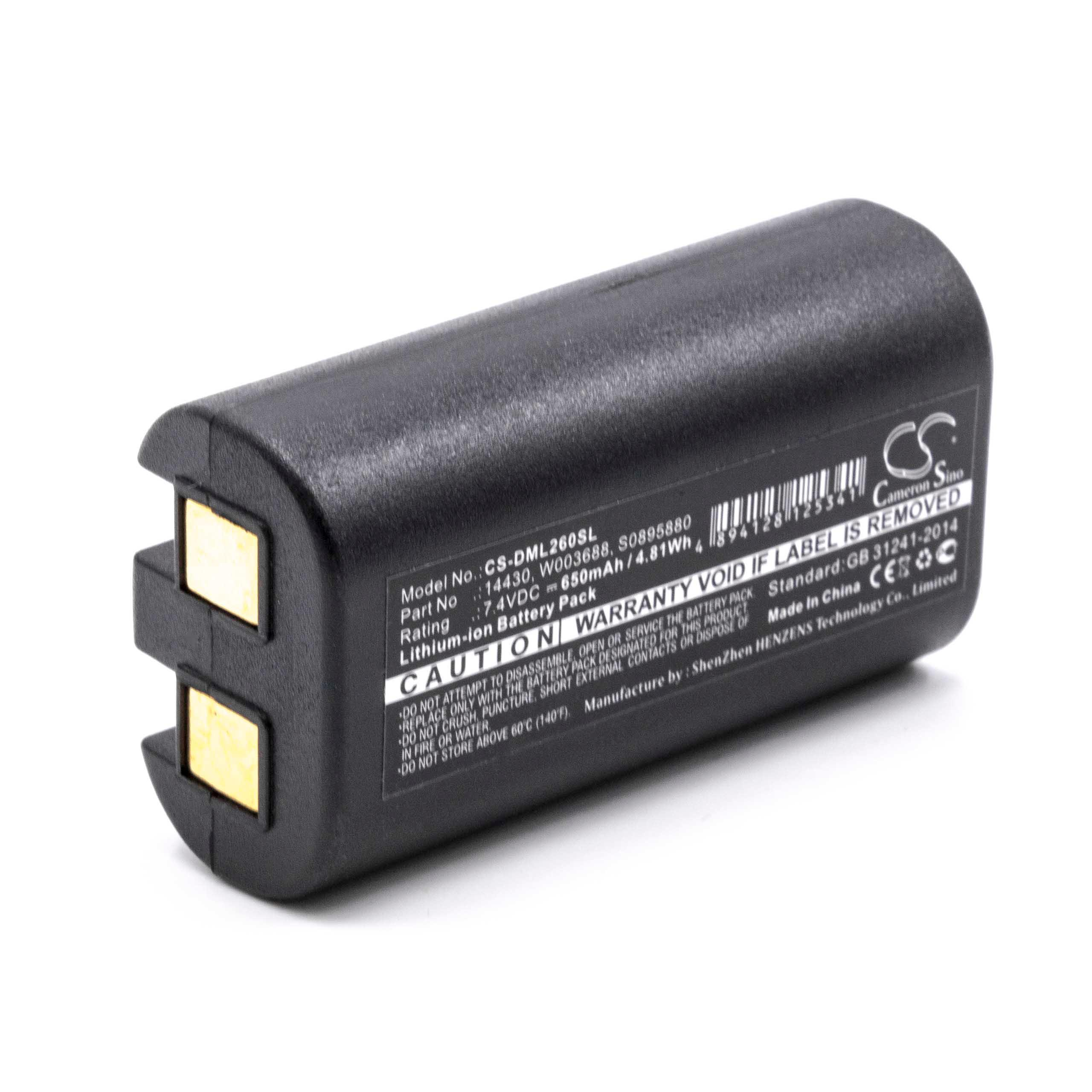 Batteria 650mAh Per DYMO (14430,1758458,S0895880,S0915380