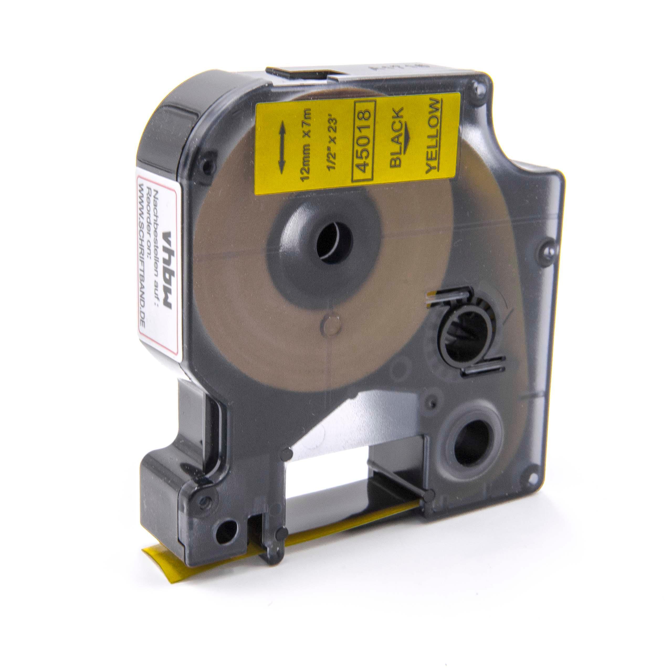 3 Cassette Compatibile con Dymo D1 40913 Nastro Etichette,Nero su Bianco per LabelManager LabelPoint LabelWriter 160 210D 260P 280 Label Manager 360D 420P Rhino 4200 5200 9mm x 7m
