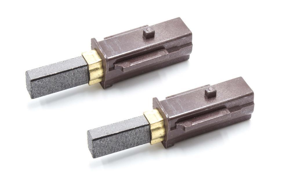2x Motorkohlen Kohlebürsten mit Sockel wie 2830480 für Gewerbe-Reinigungsgeräte