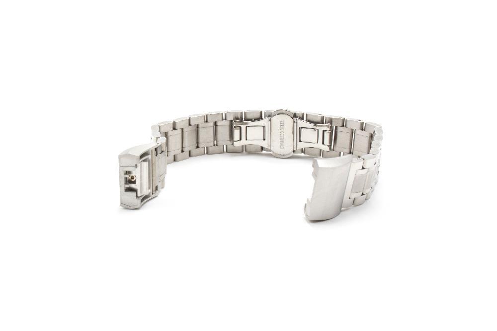 Smartwatch Fitness Armband edelstahl schwarz Magnet-Loop für FitBit Ionic