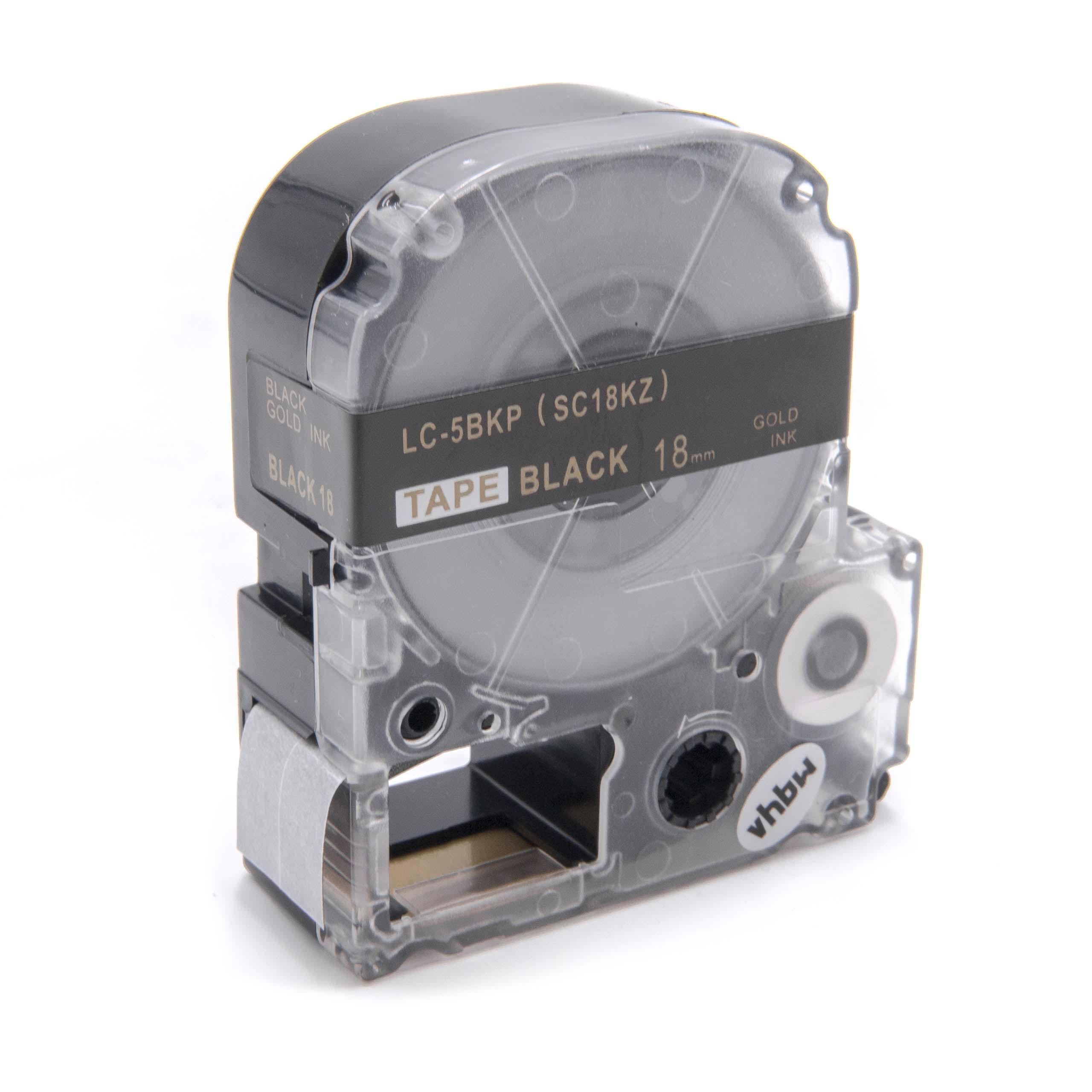 10x DRUCKER BESCHRIFTUNGSBAND 18mm SCHWARZ-WEIß für EPSON LabelWorks LW-300